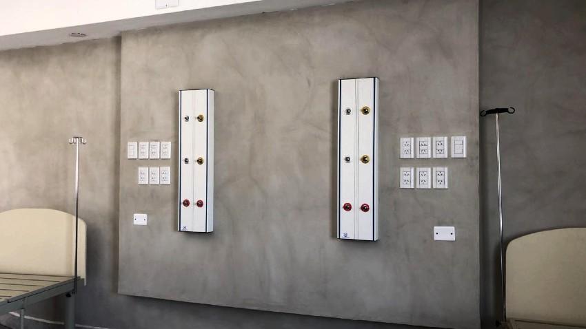 LBC Instalación paneles de gases medicinales panel vertical