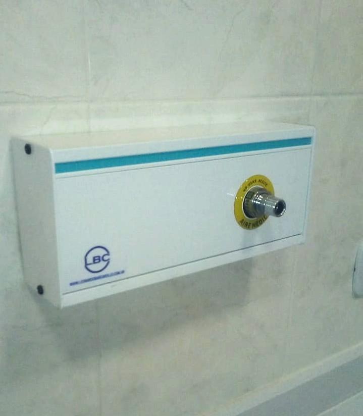 Panel miniducto de gases medicinales con acople terminal diss LBC